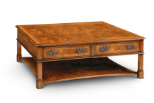 Burr walnut coffee table, Iain James Furniture