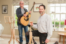 U Wood's guitar stands impress Lindisfarne frontman