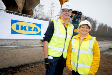 IKEA celebrates the start of Sheffield store construction