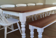 Beech and oak dining chairs, M&P Chairs